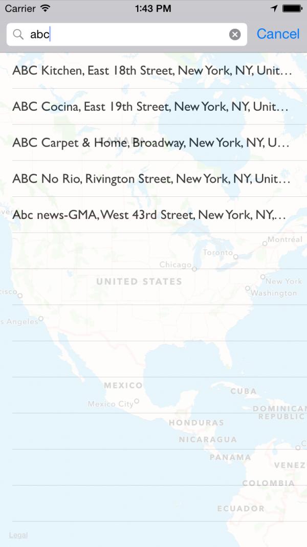 一个类似谷歌地图Goog