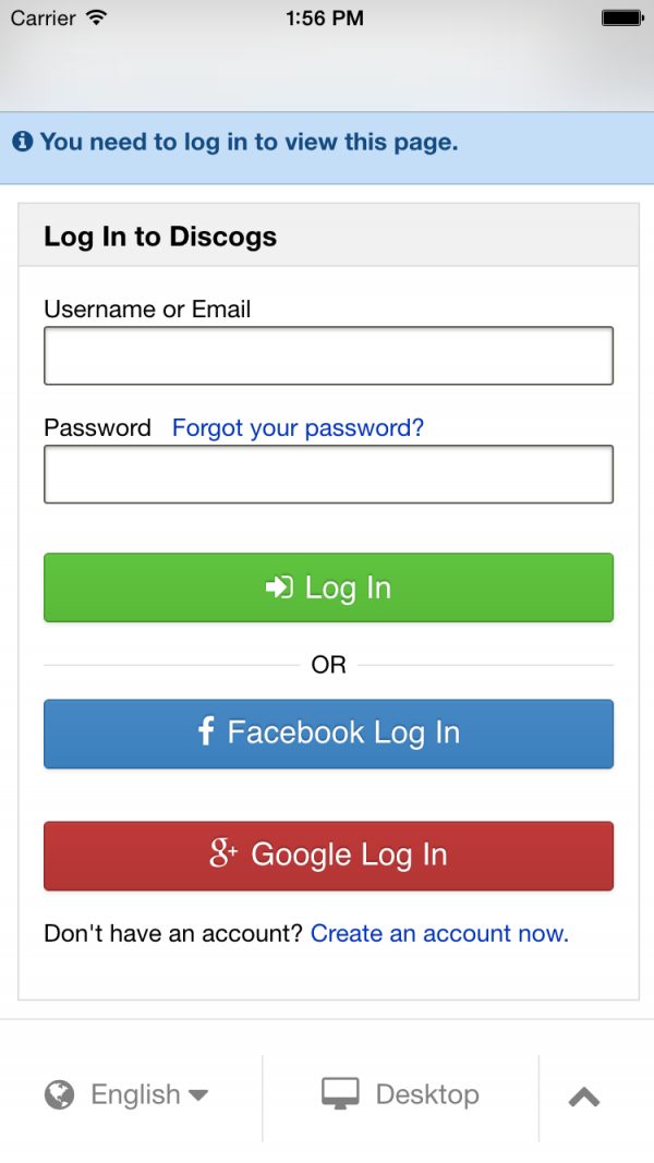 Discogs API
