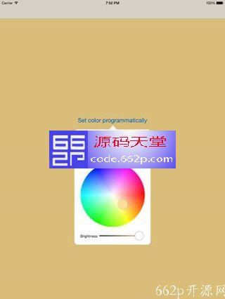 iOS 上颜色选择器组件