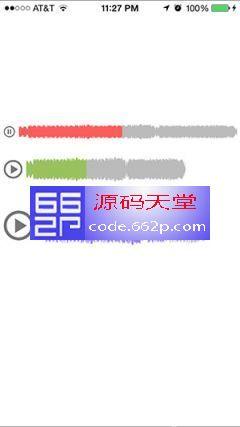 iOS简单的波形音频播放