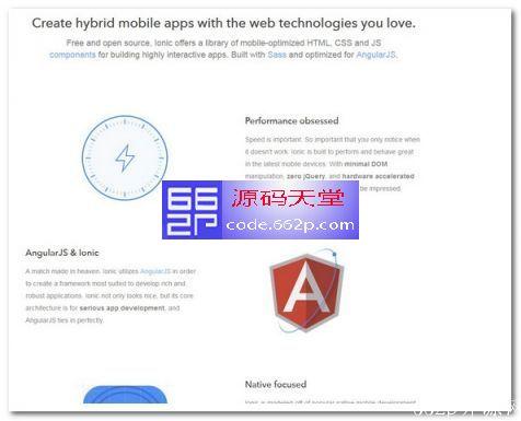 ionic HTML5 移动应用框架
