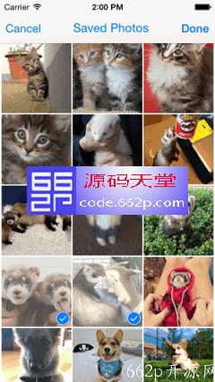 iOS 的多个图像选择