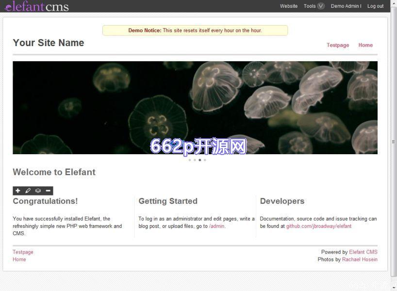 Elefant CMS  一个在PHP中重新想象的MVC框架系统