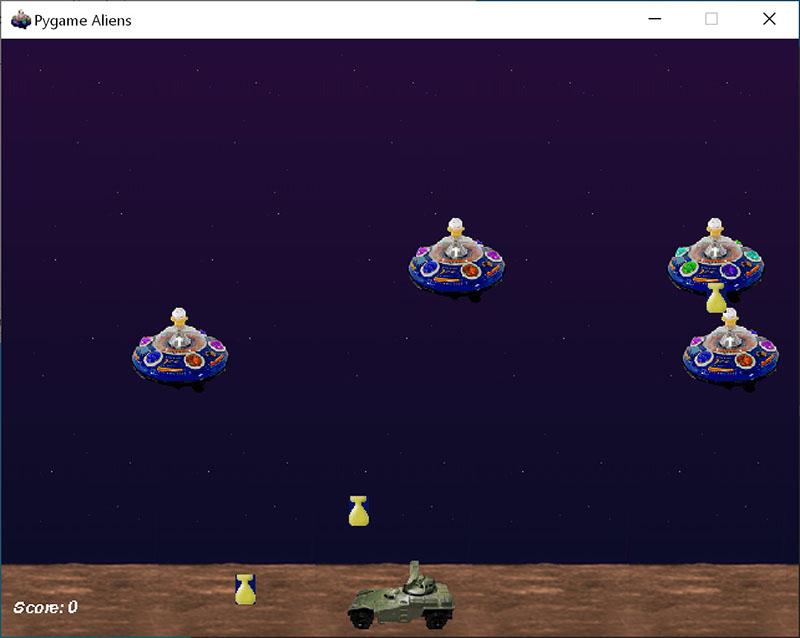 运行示例游戏的 Pygame