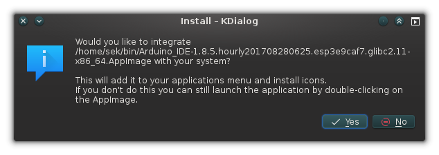 AppImage 系统集成