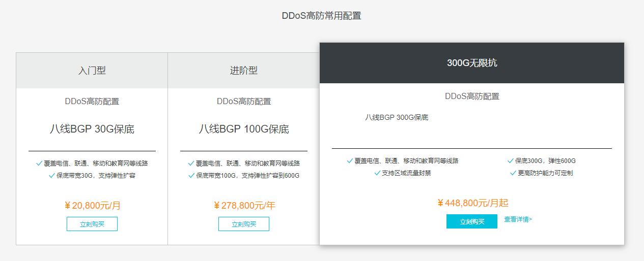 阿里云DDoS报价